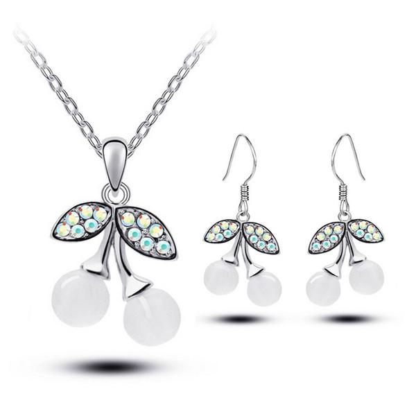 Silver Necklace+Earrings