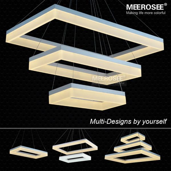 großhandel moderne led pendent lampe weiße acryl rechteck, Esszimmer dekoo