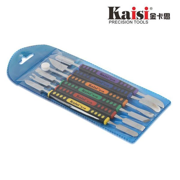 Kaisi 6pcs Dual Ends Metal Spudger Set for iPhone iPad Tablet Mobile Phone Prying Opening Repair Tool Kit