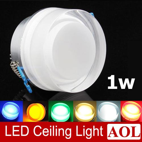 top popular Colorful 1x1w LED acrylic crystal ceiling lamps 90lm aisle lights porch lamp wall lamp AC85-265V Round LED spotlight for house lighting 2019