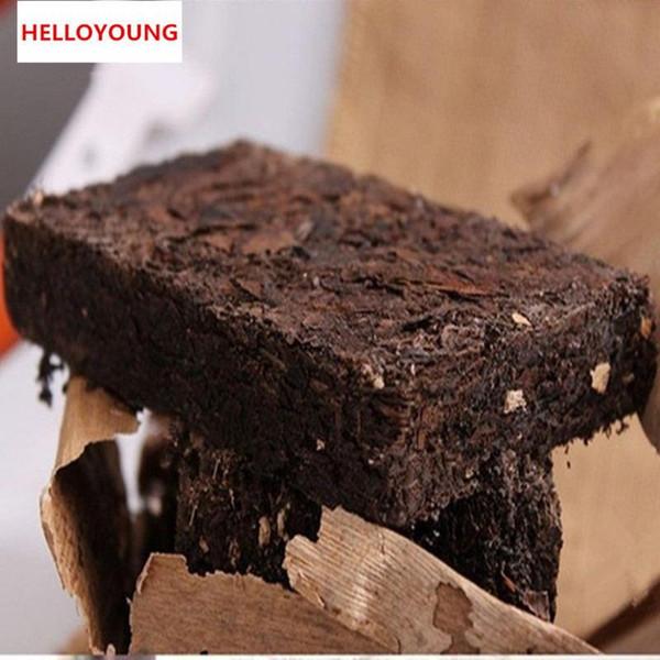 250g Pu Puh maturo Tè Yunnan Puer tradizionale Tè Confezioni di foglie di bambù Pu'er organico Il più vecchio albero cotto Puer Tè nero naturale Puerh Mattone