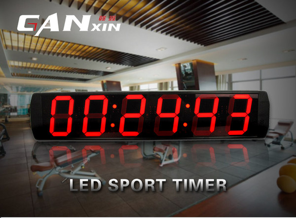 [Ganxin]6 inch Display 6 Digit Led Clock for Indoor with Remote Control Countdown Timer in Red Tube Digital Wall Clock Energy-saving Diy