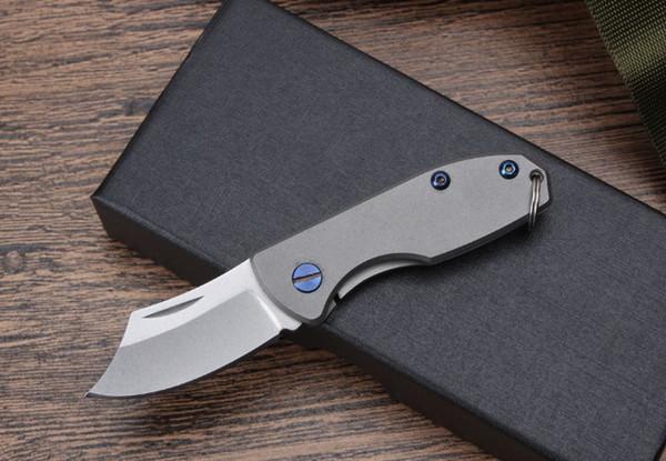 2017 nuevos productos campo de caza al aire libre cortador cuchillo de hacha sin llave de alta calidad mango de titanio (acero D2)