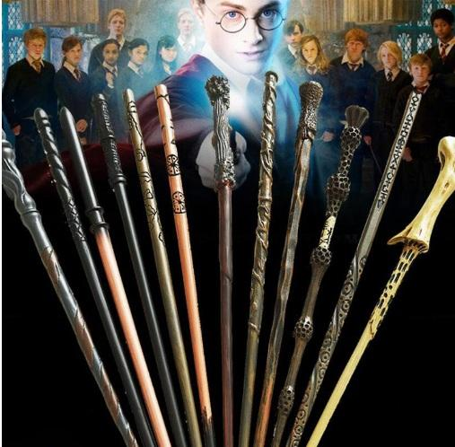 Harry Potter Magic Wand with Ollivanders Wand Box 13 Roles Hermione Voldermort Magic Wands with Metal Core Halloween Cosplay Novelty Toy