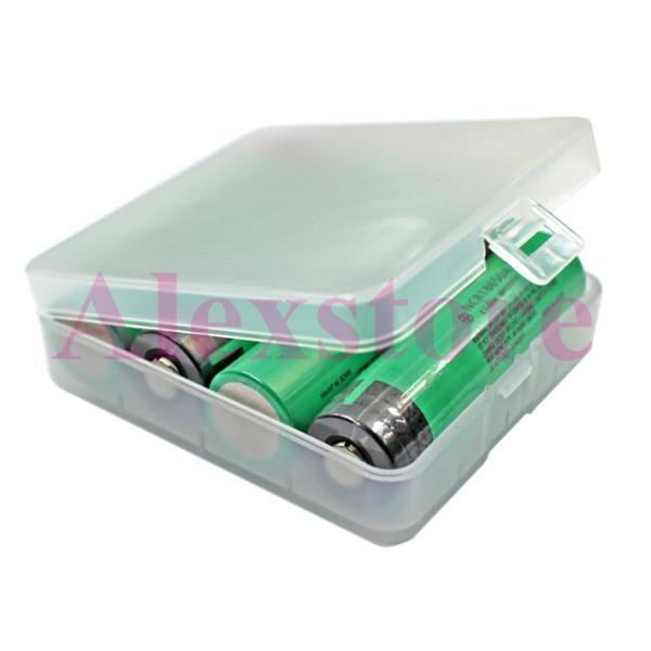 Plastic Battery Case Box Holder Storage Container translucent pack protected batteries for 4pcs 18650 li ion battery mechanical mod e cig