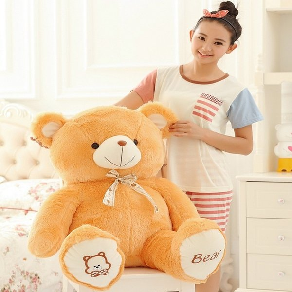 60CM One Piece Comfortable Teddy Bear With Tie PP Cotton Stuffed High Quality Plush Bears Toys Valentine's Day Present 4 Colors