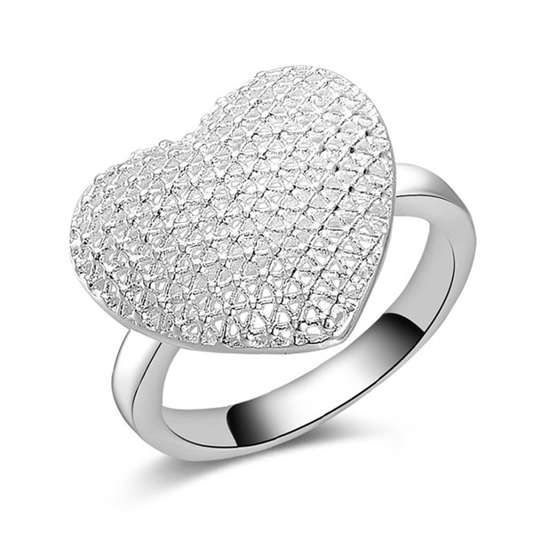 Free Shipping New 925 Sterling Silver fashion jewelry Classic heart ring hot sell girl gift 1491