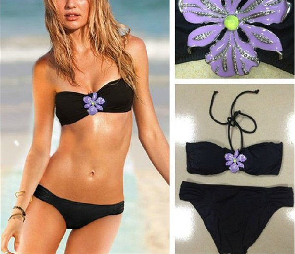 0a3aaedd1cf Sexy young girls bikinis Swimwear Women Black Triangle Bathing Suit Micro  Wear Thong Top and Bottom