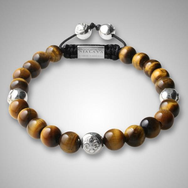 05eb094b1d14 nuevos hombres pulsera de diseño pulseras de Shamballa pulseras hechas a  mano de tigre shamballa perlas
