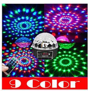 9 Color Projector DJ Disco LED Light MP3 Remote Stage Laser Lighting Party bar US/EU UK AU Plug