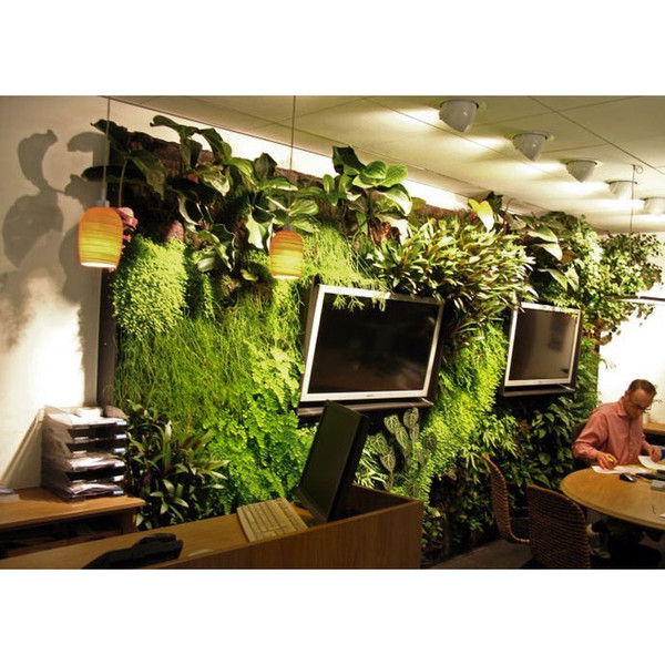 Interior Office Interior Design Furnishings Home Shopping Beautify  Dimensional Wall Green Wall Of Plants Wholesale Dropship, Buy Cheap Selling  Novelty ...