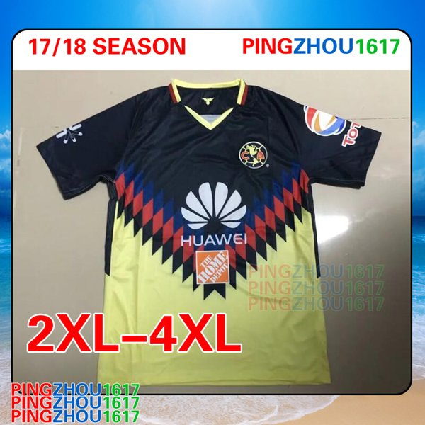 new products 4ce4b 669a1 2019 2XL 4XL 2017 2018 Mexico Club America Jersey Home 17 18 America Soccer  Jerseys DOMINGUEZ Matheus LAINEZ PERALTA Thai Quality Football Shirts From  ...