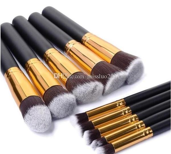 Cheap wholesale 30sets (10pcs/set) Makeup Brushes Make Up Brush Set Kits Cosmetic Brush Set Kit Tool 10pcs/set makeup brushes free shipping