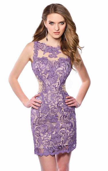 Jewel Lace Short Homecoming Dresses 2015 Crystal Beaded Sweetheart ...