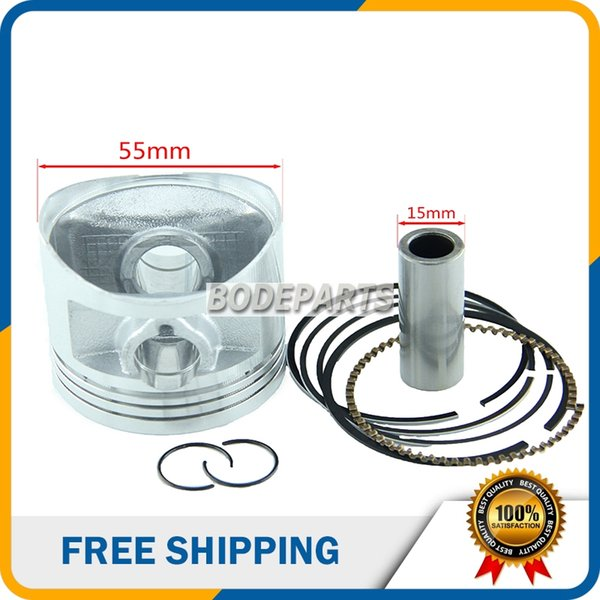 HH-105 For LIFAN 140CC Engine 55mm Piston And Piston Ring Set for Kayo Apollo Bosuer Dirt Pit Bike Motorcycle parts