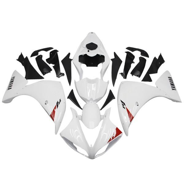 Yamaha YZF-R1 2009 2010 2012 kit de carenados de plástico ABS Motocicleta blanca