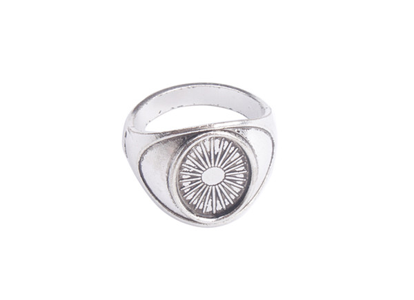 10 PCS Antiqued Silver Base Ring Blank Settings 14x10mm #91314