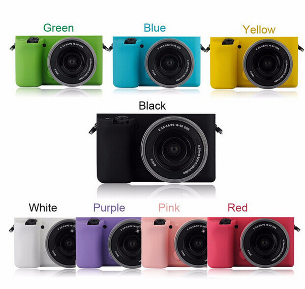 Black Soft Silicone Rubber Camera Protective Body Cover Case Skin for Sony A6000 ILCE-6000L 16-50mm