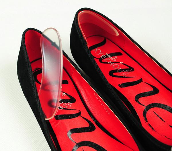010 Após o calcanhar vara auto-adesivo palmilhas Sapato Heel Colar Gel de Silicone Almofada Anti-Slip Palmilha Cuidados Com Os Pés Almofada de calcanhar Protetor de Alívio