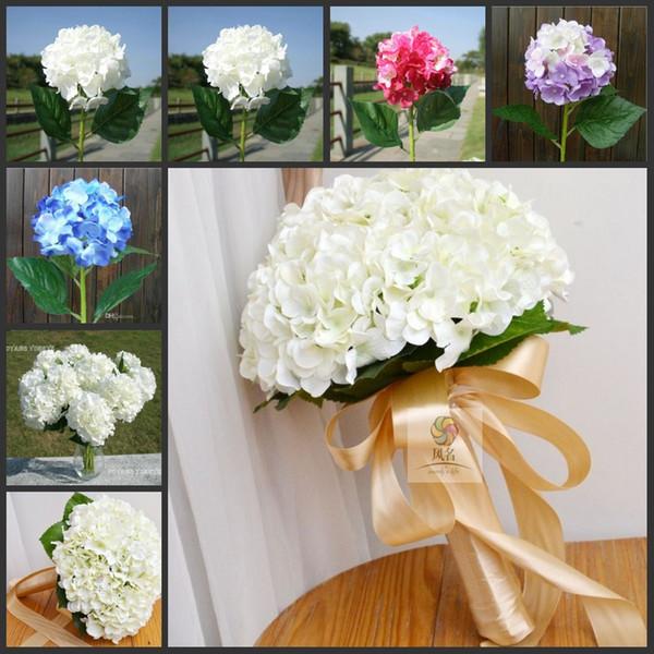 Elegant Hydrangea Artificial Silk Flower Wedding Centerpieces Bouquet Christmas Ornament Garland Home Decoration 6 Color to choose