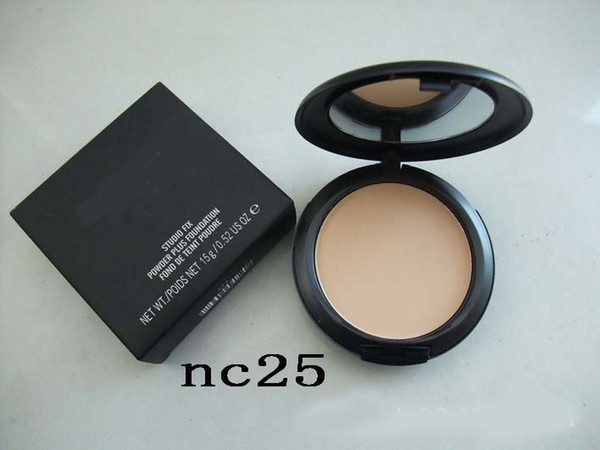 48pcs/lot DHL free 12 colors Pressed Powder Studio Fix Powder Plus Foundation 15g/0.52 US OZ pro face foundation