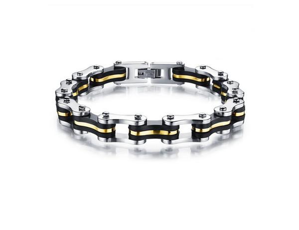 Hot Fahrrad Kette Armband Herren Titan Edelstahl Großhandel Schmuck Gold Silber Modeschmuck Kostenloser Versand