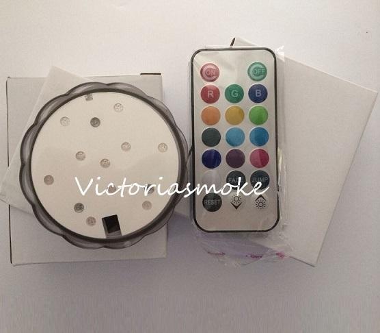 Luz conducida sumergible teledirigida de alta calidad para la luz llevada sumergible accionada por control remoto con pilas de las decoraciones