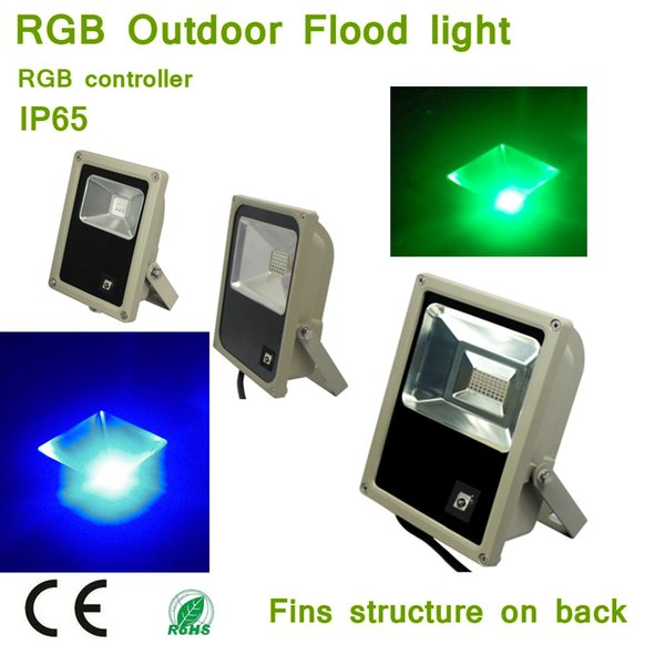 10W 30W 50W RGB LED Flood Lights, Outdoor Color Changing LED Security Light, 16 Colors & 4 Modes with Remote Control
