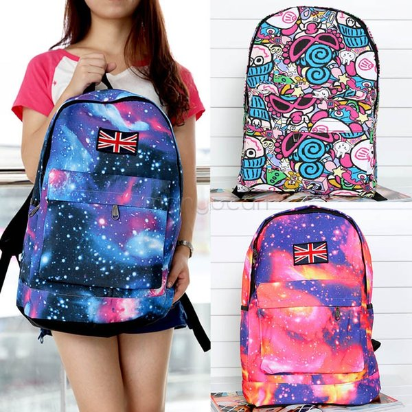New Fashion Unisex Galaxy Pattern Design Print Canvas Backpack Schoolbag Shoulders Travel Leisure Backpack SV17 SV008339