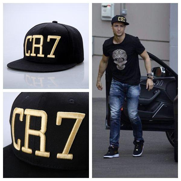 In Stock ! New 2014 Cristiano Ronaldo CR7 Gold Letter Black Baseball ... f86d7750692
