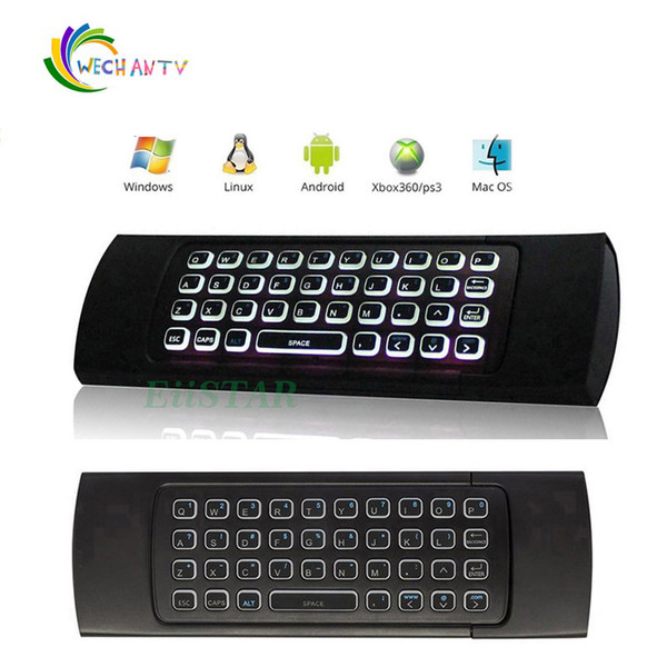 2.4G MX3 Backlit Mini Keyboard Fly Mouse Wireless Game Keyboard Remote Controller With Motion Sensor For Smart Android TV Box MXQ PRO T95M