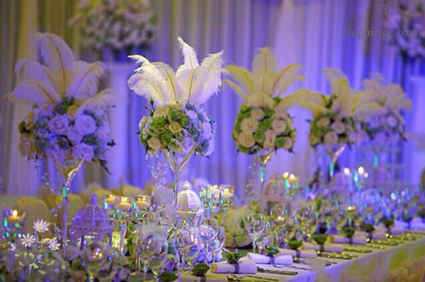 Hot 100 pcs Per lot Natural White Ostrich Feather Plume Centerpieces for Wedding Party Table Decorations (Many size and color to choose )