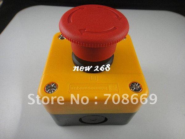 top popular 10PCS Red Sign Emergency Stop Push Button 660V Switch 2021