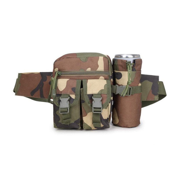 Tactical Molle Bag Outdoor Travel Sport Bag Fanny Pack Detachable Water Bottle Holder Waist Belt Mini Pouch Pocket Free Shipping