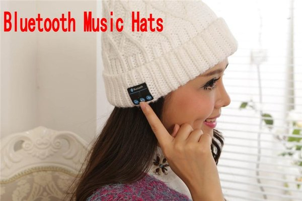 Wireless Bluetooth V3.0 Smart Woolen Knit Beanie Winter Sport Hat Headphone Headset Hands-free Music Magic Cap,Mp3 Speaker Mic DHL free