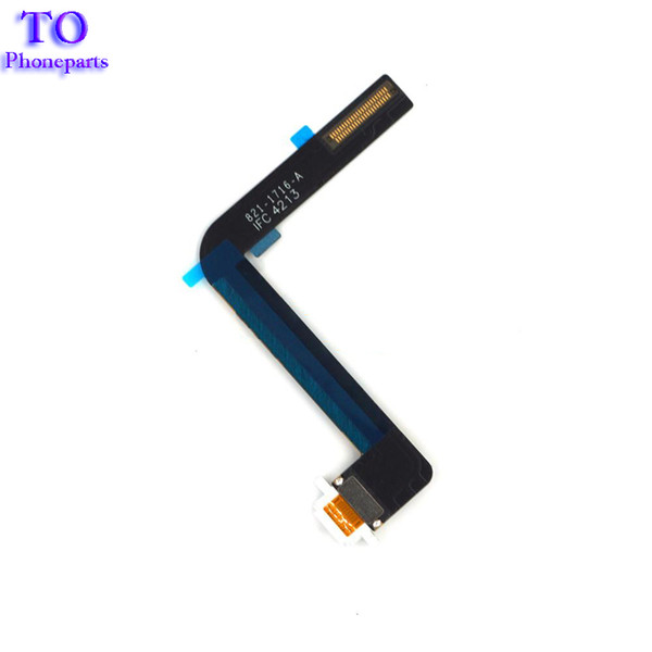 50pcs For Ipad Air IPad 5 Charger Charging USB Dock Connector Port Flex Cable Ribbon Repair Part Black White