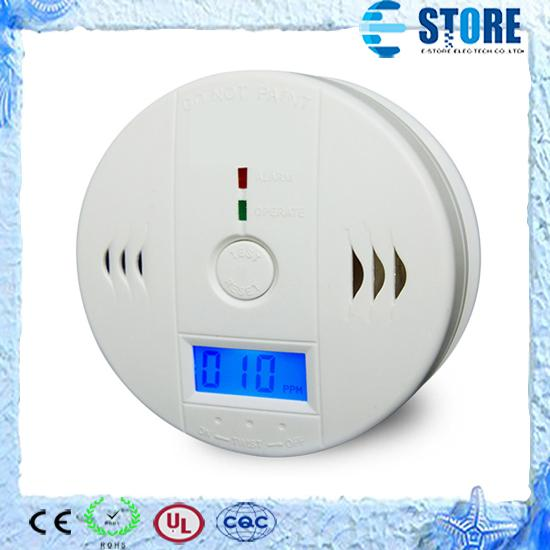 top popular CO Carbon Monoxide Detector Smoke Home Alarm Safety Gas Fire Poisoning Warning Alarm Sensor Battery Operated Alert LED Display 2020