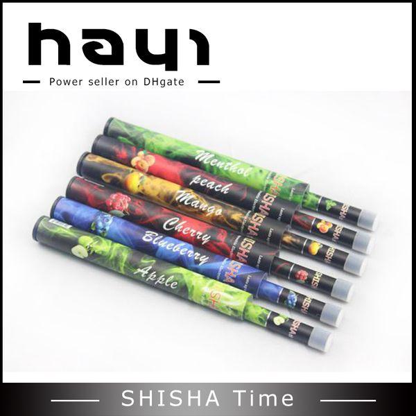 Shi Sha e-shisha time hookah Disposable Shisha Pipes Sticks Huge Vapor pens multi flavours 500puffs with retail package smoke ecigs Hayi