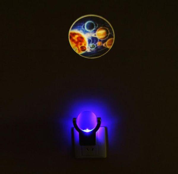 ... Light(Solar System) Lamp. Star Celestial Projector Light Sensing  Colorful Led Night Light 360° Rotating Projectables LED Plug