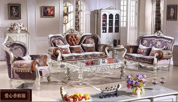 2015 high-end European-style living room sofa combination / Royal ...