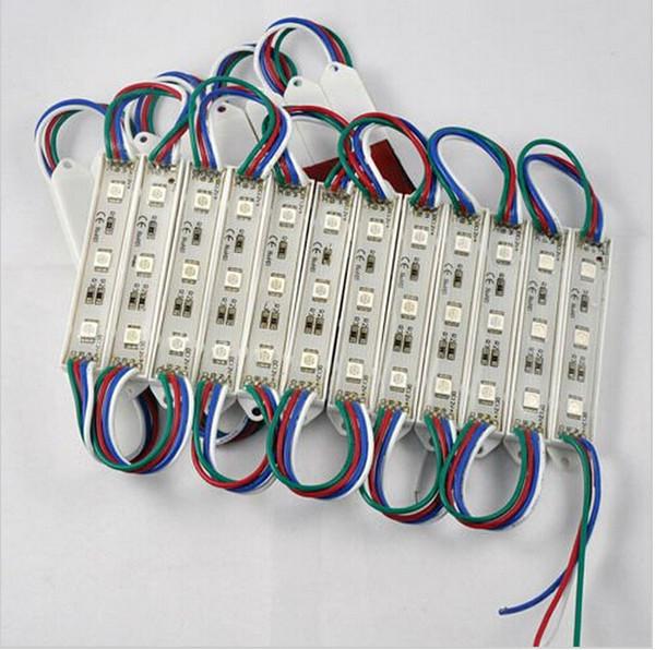 Livraison gratuite décoration SMD 5050 une chaîne DC12V Étanche IP65 RVB blanc chaud blanc R G B Y module led lumière 100pcs / lot