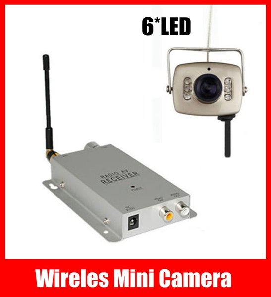 6 LED IR Wireles Mini Camera + 1.2GHz Wireless Receiver, Home Security Nanny Pinhole CCTV Camera Kit Free Shipping