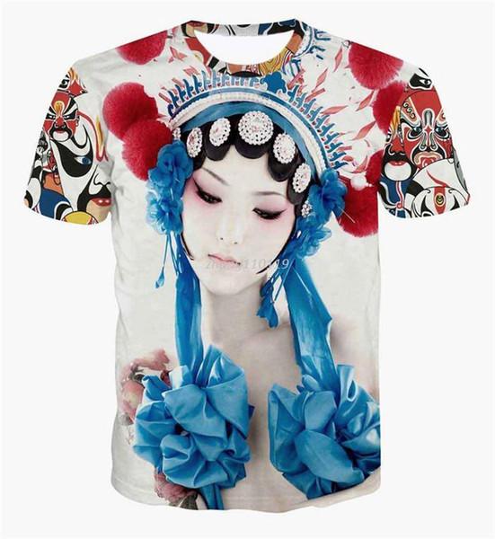 T-Shirts Männer / Frauen T-Shirt 3D Druck Rihanna / Clown / Zusammenfassung T-Shirt lässig Frauen lustig Harajuku Kurzarm-T-Shirt