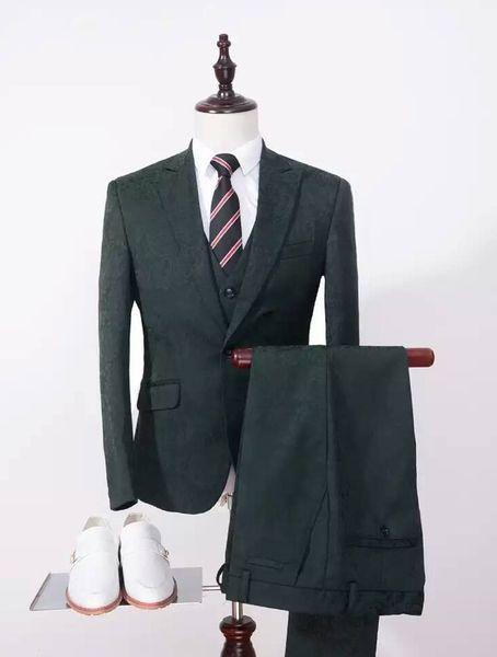 New Arrival Real Picture Groom Tuxedos Print Groomsmen 6 Styles Best Man Suit/Bridegroom/Wedding/Prom/Dinner Suits (Jacket+Pants+Vest) K641
