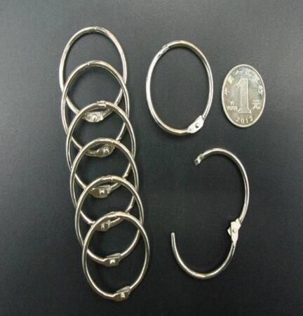 top popular Free shipping 500Pcs lot 50mm Book Hoop Binding Rings Binder Hoops Loose Leaf Ring Scrapbook Album DIY keyring 2021