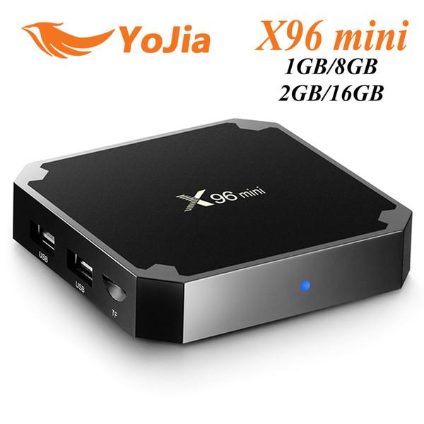 best selling (EU Tax Free) X96 mini Android 7.1 TV BOX 1GB8GB 2GB16GB Amlogic S905W Quad Core Smart TV Box X96mini