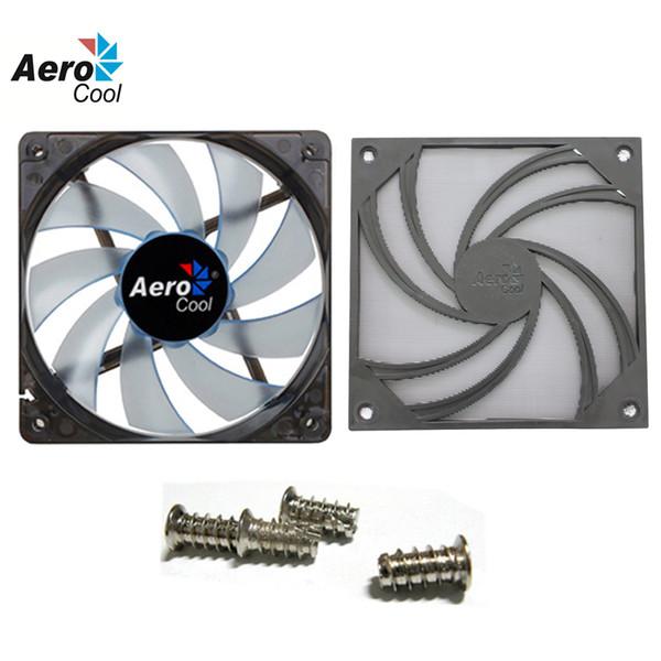 Wholesale- Wholesale Aerocool PC Case Cooling Fan 120mm Silent Fan With Fan Dust Filter/Net Washable/Dust Cover