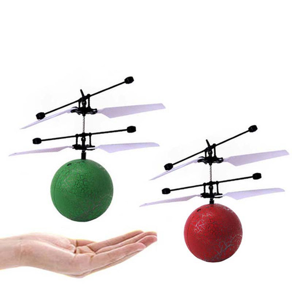 Induction Flying Ball Infrared Sensor Hand Induced Fire cracks Ball Helicopter Toys RC Mini Easy Operation Drone wight flash LED light