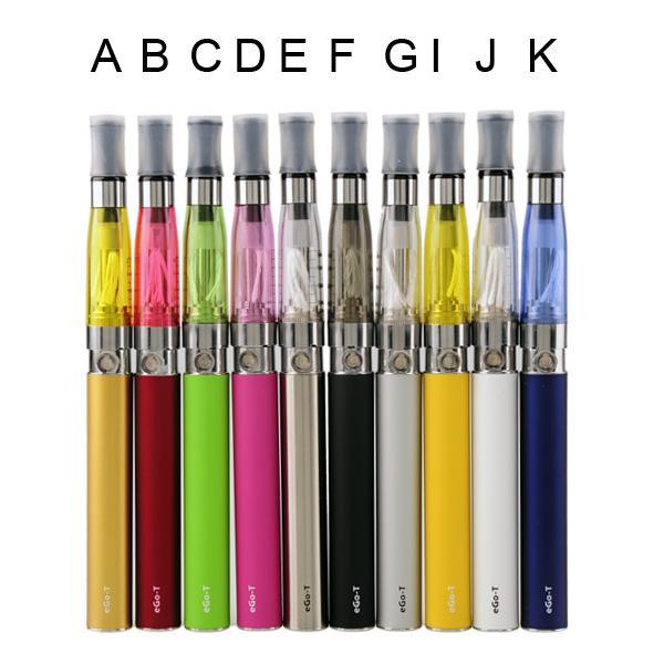 2015 eGo EGO-T-C blister kits et kits de démarrage cigarette électronique eGo-T batterie 650mah 900mah 1100mah cigarette électronique CE4 Clearomizer (0209026)