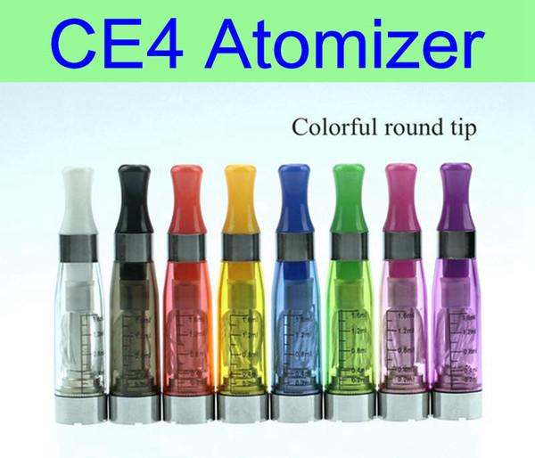 10 unids / lote CE4 Atomizador 1.6 ml cigarrillos electrónicos vaporizador clearomizer 510 hilo para la batería ego spinner EVOD ego twist X6 X9